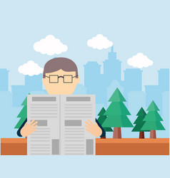 people reading design vector image
