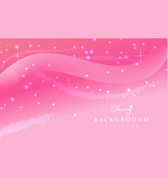 Pink glowing abstract background design vector