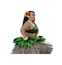 Polynesian woman dancer vector