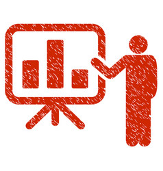 Presentation grunge icon vector