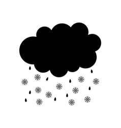 Rain and snow on white vector