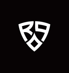 rp monogram logo with modern shield style design vector image