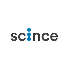 science logo abstract technology and laboratory vector image