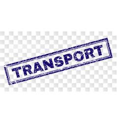 Scratched transport rectangle stamp vector