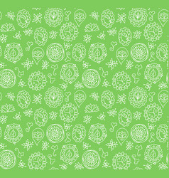 seamless pattern made of floral doodles vector image