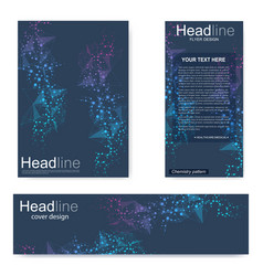 Set flyer brochure size a4 templatebanner vector