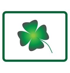 Sign four leaf clover 605 vector