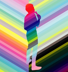 singer colorful vector image