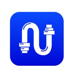 Siphon icon blue vector