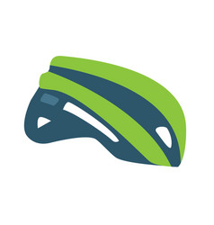 Sport helmet cycling flat style icon vector