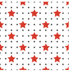 star seamless pattern repeating ornament vector image