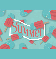 Summer ice cream banner vector