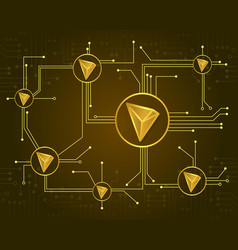 Tron blockchain design background collection vector