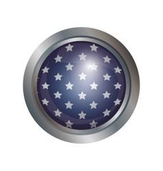 Usa button icon vector