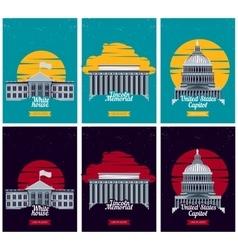 USA tourist destination posters vector