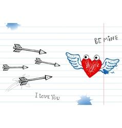 Valentine doodles vector