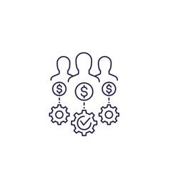 Venture capital investors line icon vector