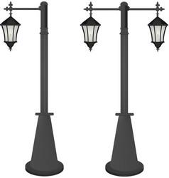 vintage street lamps vector image