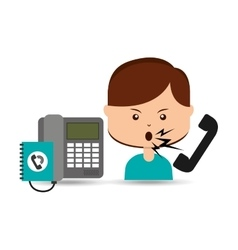 Woman customer complaints call center vector