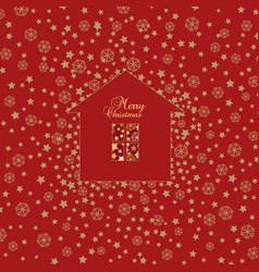 Christmas snow background happy winter holiday vector
