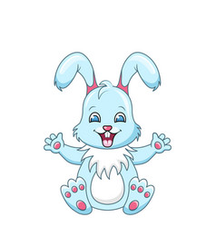 cute rabbit cartoon boy happy bunny isolated on vector image