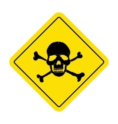 Danger sign with skull symbol Deadly danger sign vector image vector image