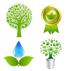eco set vector image vector image