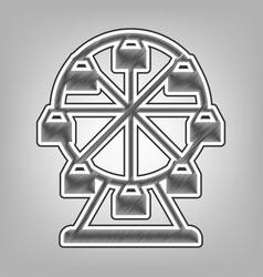 ferris wheel sign pencil sketch imitation vector image vector image