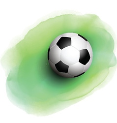 football on watercolor background 1506 vector image vector image