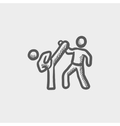 Karet fighters sketch icon vector image