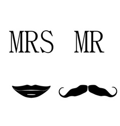 Mrs and mr symbols vector image vector image