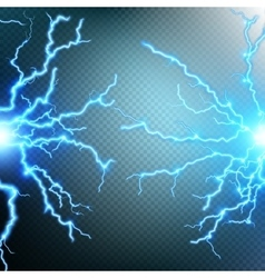 Thunder-storm and lightnings EPS 10 vector image vector image