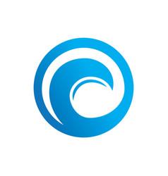 abstract circle wave logo vector image