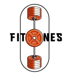 Color vintage fitness emblem vector image vector image