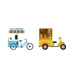 Delivery transport moto bike motorcycle vector image