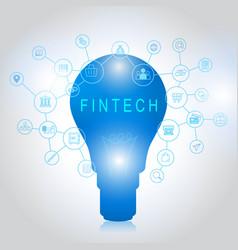 fintech investment financial internet technology vector image