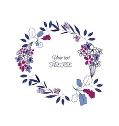 floral leaf wreath vector image vector image