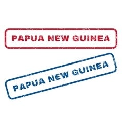 Papua new guinea rubber stamps vector