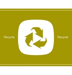 Recycle symbol or sign of conservation icon vector image