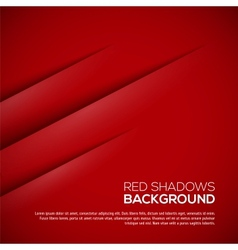 Red background with realistic shadows vector image vector image