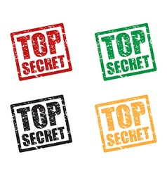 top secret set stamps vector image