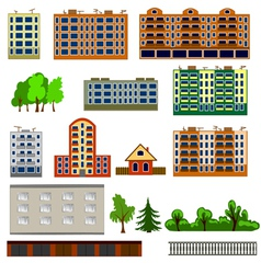 City houses set vector image