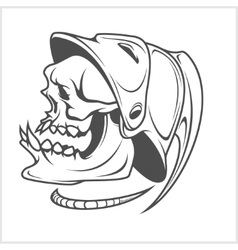 Firefighter - skull and helmet vector image vector image