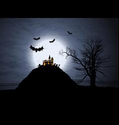 halloween background 1909 vector image