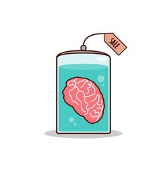 Isolated cartoon brain for sale promotion vector image vector image