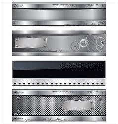 Metal banner set vector image