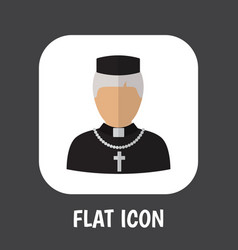of occupation symbol on priest vector image