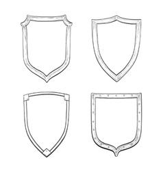 Set of vintage shields vector image vector image