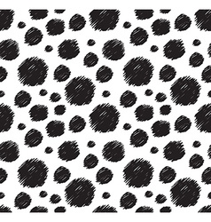 White and black seamless pattern Stylish polka dot vector image