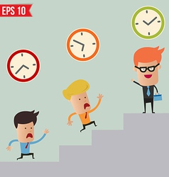 Business man and time management concept - vector image